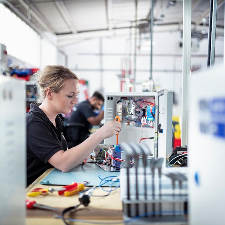 Testing of UPS systems at Brandon Medical, Leeds, UK